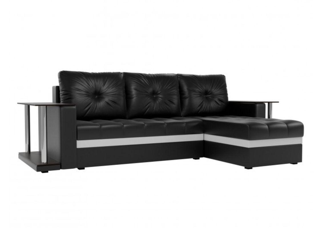 Диван Craftmebel Атланта М два стола (черная экокожа) - фото 1