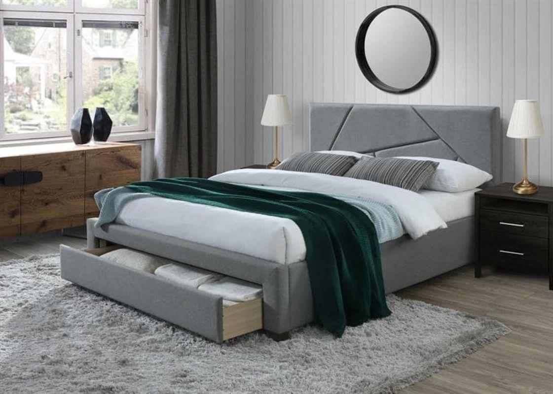 Кровать Halmar Valery 160 (серый/орех) - фото 1