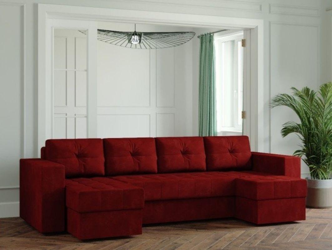 Диван Настоящая мебель Ванкувер Лайт (Модель: 55555) бордовый - фото 1