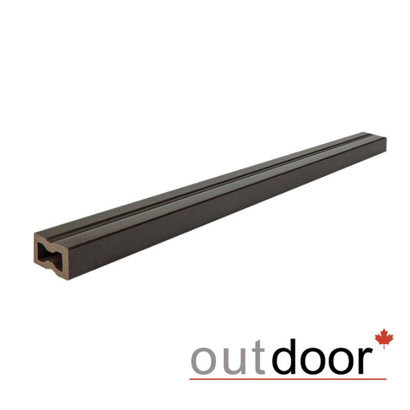 Декинг Outdoor Лага ДПК 30x30x3000 мм темно-коричневая - фото 1