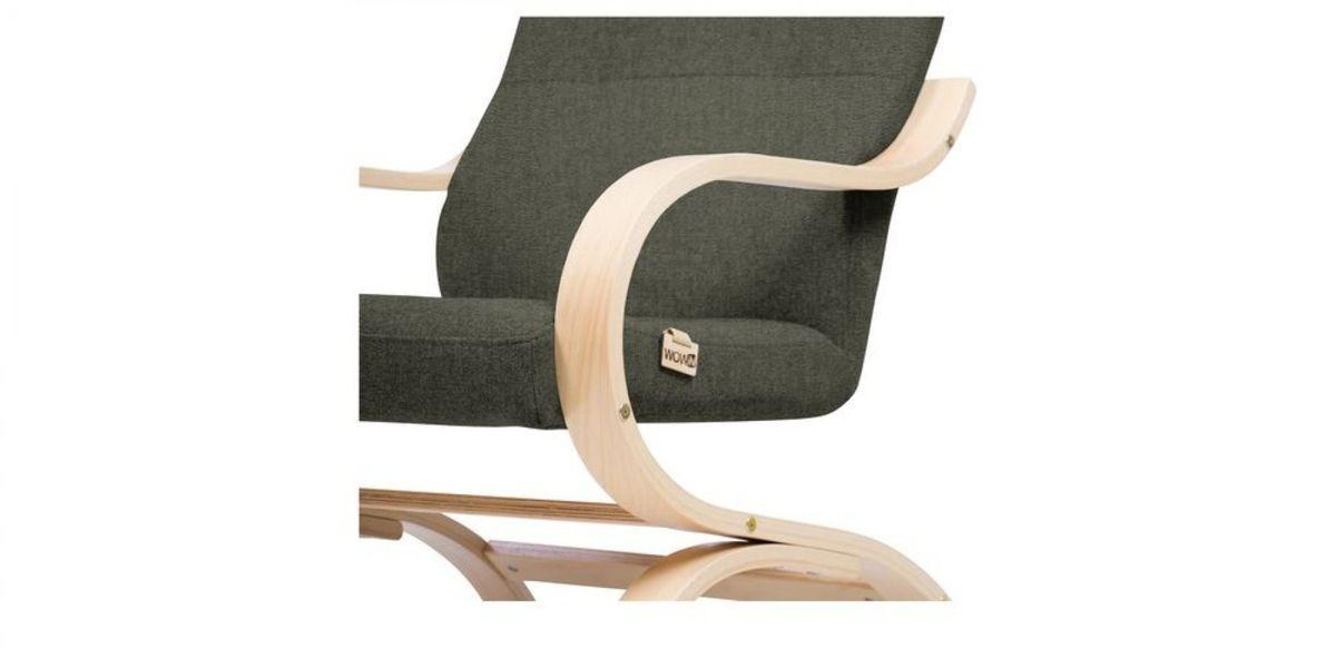Кресло WOWIN Вейв (Темно-коричневый велюр) - фото 4