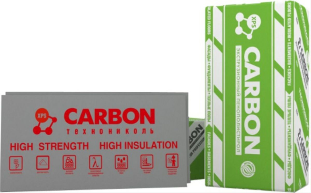 Звукоизоляция ТехноНиколь XPS CARBON ECO 1180x580x100-l - фото 1