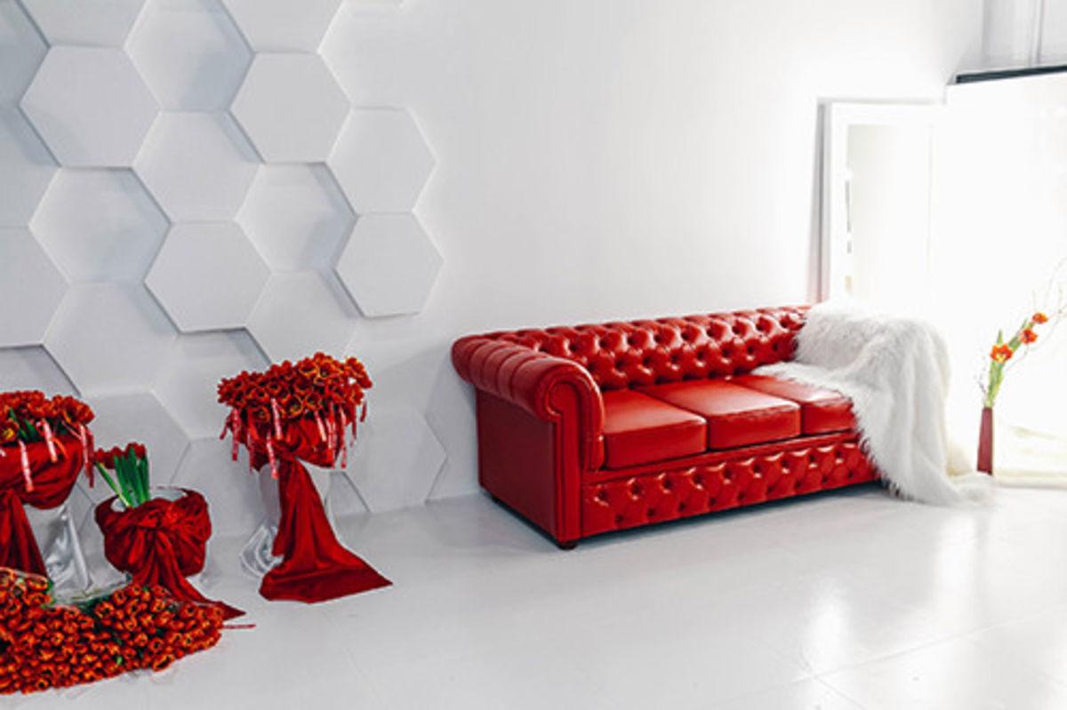 Диван Tiolly Честерфилд 3 (красный) - фото 1
