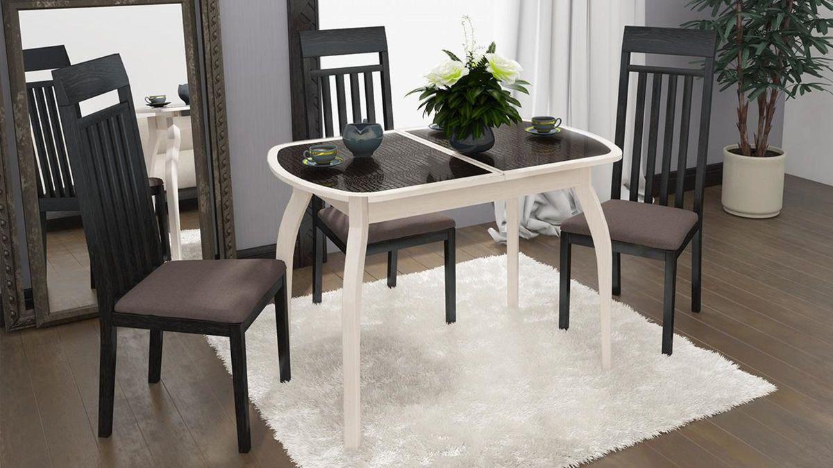 Обеденный стол ТриЯ Ницца 2 раздвижной на деревянных ножках - фото 14