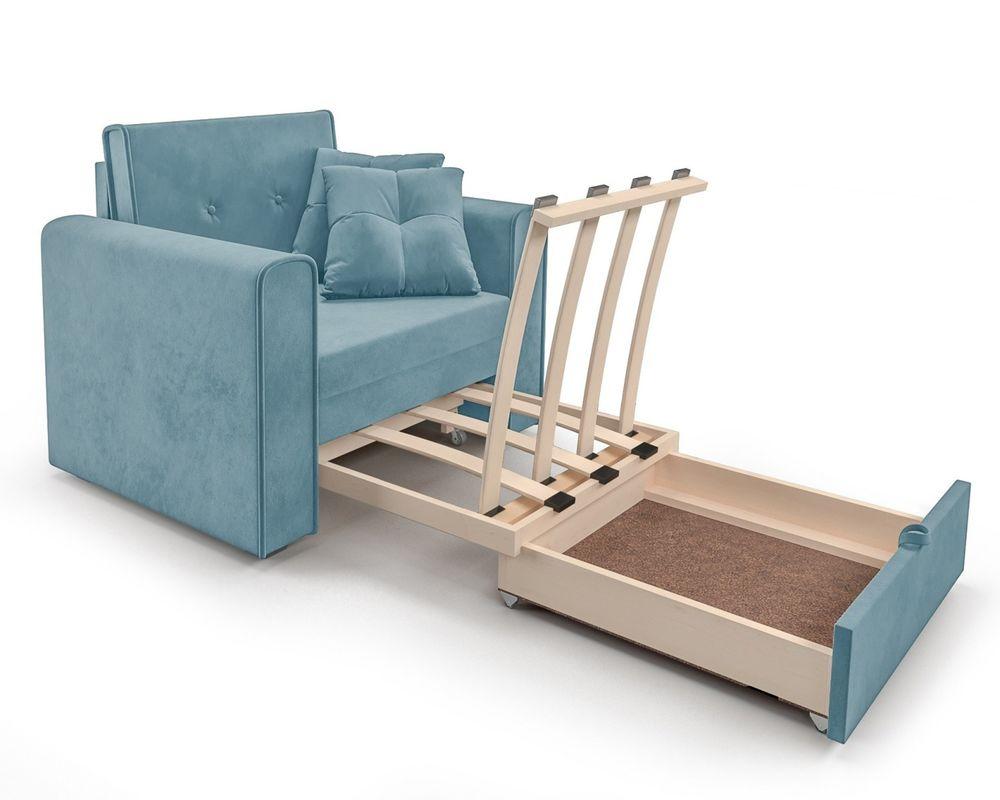 Кресло Мебель-АРС Санта (велюр голубой - Luna 089) - фото 7