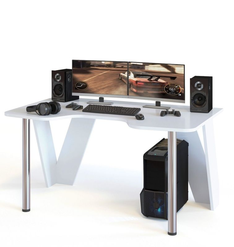 Купить письменный стол Сокол-Мебель: КСТ-116 (белый)