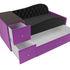 Диван ЛигаДиванов Джуниор левый 102201 микровельвет черный/фиолетовый - фото 3