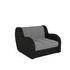 Кресло Мебель-АРС Аккордеон Барон серый (рогожка + экокожа) - фото 1