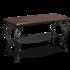Пуфик Sheffilton Грация 685 (черный/коричневый) 825192 - фото 1