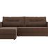 Диван ЛигаДиванов Канзас угловой левый 101160 рогожка коричневый - фото 2
