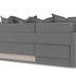 Диван ТриЯ левый «Люксор Slim Т2» (Kolibri Mocco (велюр) коричневый) - фото 4