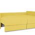 Диван ТриЯ «Раймонд» (Neo 08 (рогожка) желтый подушка Neo 04 (рогожка) светло-коричневый) - фото 6