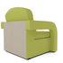 Кресло Мебель-АРС Кармен-2 зеленый (рогожка) - фото 4