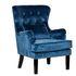 Кресло Garda Decor 24YJ-7004-06466/1 (велюровое синее с подушкой) - фото 2
