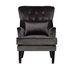 Кресло Garda Decor 24YJ-7004-06437/1 (велюровое серое с подушкой) - фото 1