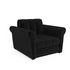 Кресло Мебель-АРС Гранд черный велюр (НВ-178/17) - фото 1