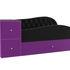 Диван ЛигаДиванов Джуниор левый 102201 микровельвет черный/фиолетовый - фото 4