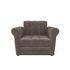 Кресло Мебель-АРС Гранд (бархат серо-шоколадный) - фото 2