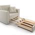 Кресло Мебель-АРС Санта (бархат бежевый) - фото 6