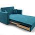 Диван Мебель-АРС Санта (бархат сине-зеленый  STAR VELVET 43 BLACK GREEN) - фото 7