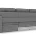 Диван ТриЯ правый «Райс Slim Т2» (Neo 07 (рогожка) светло-серый) - фото 4