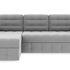 Диван ТриЯ левый «Райс Slim Т1» (Kolibri Silver (велюр) серый) - фото 2