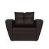 Кресло Мебель-АРС Квартет - экокожа шоколад - фото 2