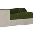 Диван ЛигаДиванов Джуниор левый 102198 микровельвет зеленый/бежевый - фото 4