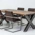 Кресло LORI Бергамо (кожзам/ткань) с подлокотниками - фото 6