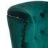 Кресло Garda Decor 24YJ-7004-07342/1 (бархатное зеленое с подушкой) - фото 3