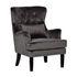 Кресло Garda Decor 24YJ-7004-06437/1 (велюровое серое с подушкой) - фото 2
