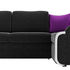 Диван ЛигаДиванов Николь правый микровельвет черный/фиолетовый 60196 - фото 4