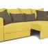 Диван ТриЯ «Раймонд» (Neo 08 (рогожка) желтый подушка Neo 04 (рогожка) светло-коричневый) - фото 3