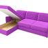 Диван ЛигаДиванов Скарлетт 125 угловой левый 60677 вельвет фиолетовый - фото 5