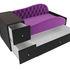 Диван ЛигаДиванов Джуниор левый 102200 микровельвет фиолетовый/черный - фото 3
