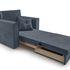 Кресло Мебель-АРС Санта (велюр серо-синий /НВ-178/26) - фото 8
