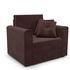 Кресло Мебель-АРС Санта (велюр шоколадный) - фото 1