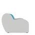 Кресло Мебель-АРС Аккордеон Барон синий (рогожка + экокожа) - фото 3