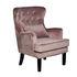 Кресло Garda Decor 24YJ-7004-06418/1 (велюровое дымчато-розовое с подушкой) - фото 2