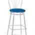 Барный стул САВ-Лайн Венус хокер хром (синий) - фото 1