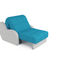 Кресло Мебель-АРС Аккордеон Барон синий (рогожка + экокожа) - фото 5