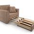 Кресло Мебель-АРС Санта (велюр бежевый - Luna 061) - фото 6