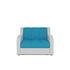 Кресло Мебель-АРС Аккордеон Барон синий (рогожка + экокожа) - фото 2