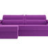 Диван ЛигаДиванов Форсайт угол левый микровельвет фиолетовый - фото 3