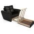 Кресло Мебель-АРС Квартет - экокожа черная - фото 5