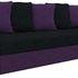 Диван Mebelico Атлант Т 64 микровельвет черный/фиолетовый - фото 1