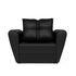 Кресло Мебель-АРС Квартет - экокожа черная - фото 2