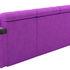 Диван Mebelico Марсель п-образный велюр фиолетовый/черный - фото 3