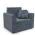 Кресло Мебель-АРС Санта (велюр серо-синий /НВ-178/26) - фото 1