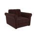 Кресло Мебель-АРС Гранд коричневый микровелюр (Luna 092) - фото 1